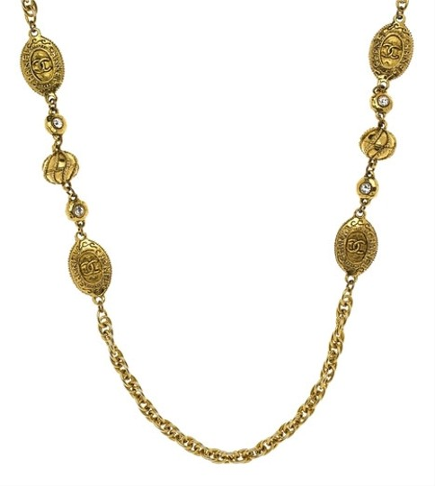Chanel Vintage Chanel Royal Crown Coin Filigree Necklace