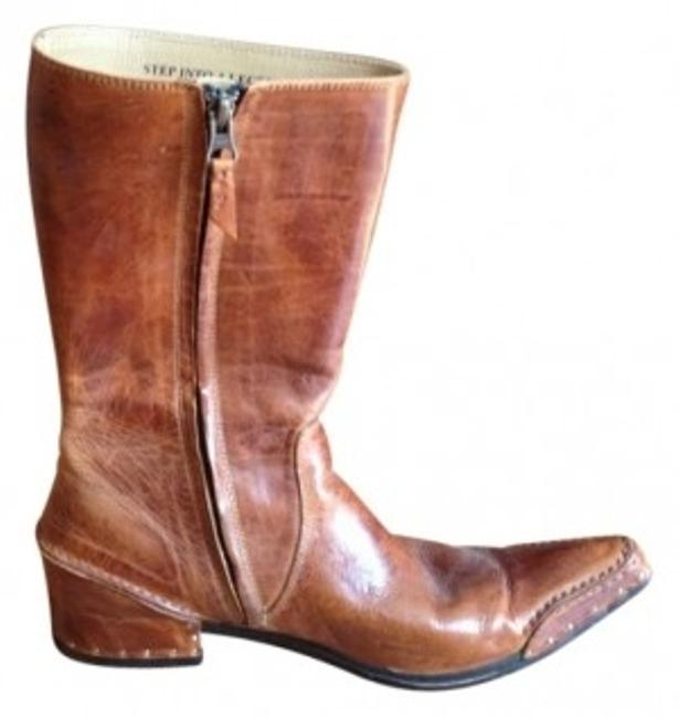 Item - Tan Pointy-toed Boots/Booties Size US 7.5 Regular (M, B)