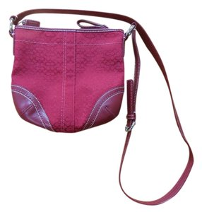 Coach Leather Maroon Cross Body Bag