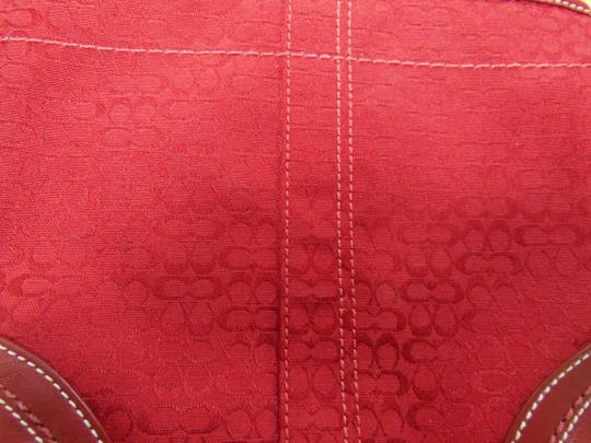 Coach Leather Maroon Red Holiday Cross Body Bag