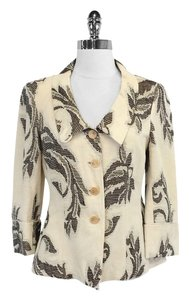 Armani Collezioni Linen Blend Embroidered Jacket
