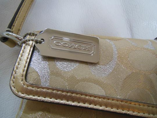 Coach Silver Formal Small gold Clutch