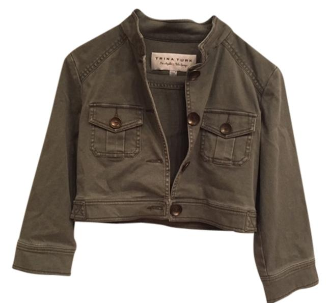 Trina Turk Cropped army Green Jacket