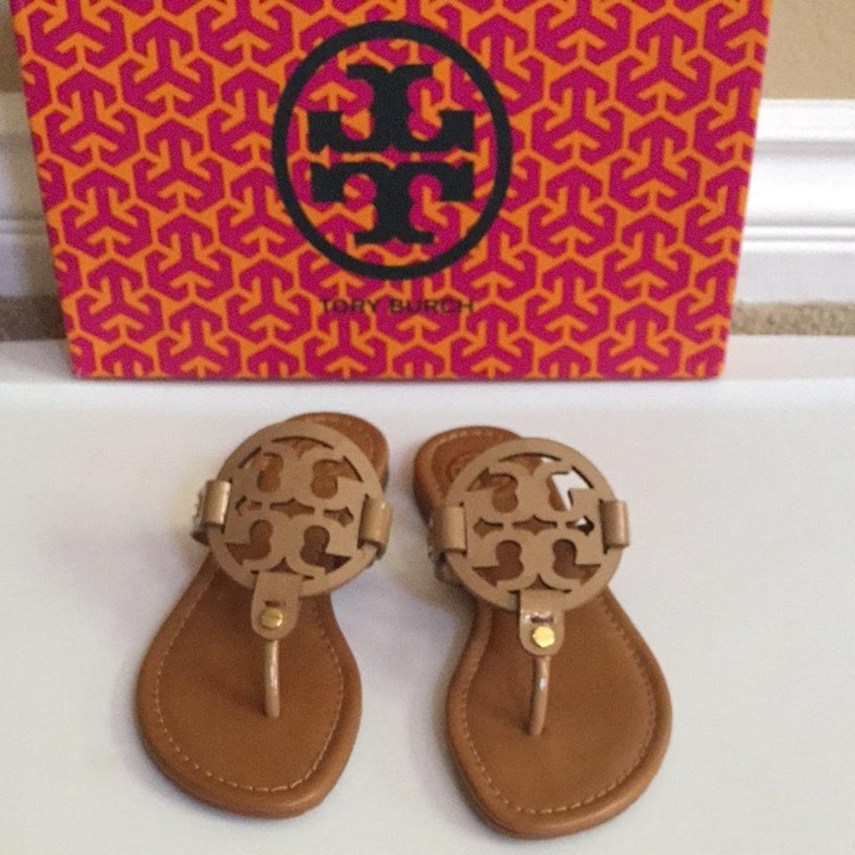 Tory Burch Royal Leather Tan Patent Leather Royal Miller Sandals 677f2d
