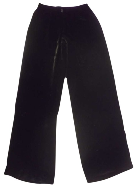 Ann Taylor Size 6 Leegs Formal Velvet Super Flare Pants Black