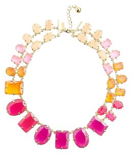 Kate Spade Coated Confetti Rainbow Bright Statement Necklace, 18