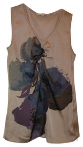 Banana Republic Flower Design Sleeveless Top Tan