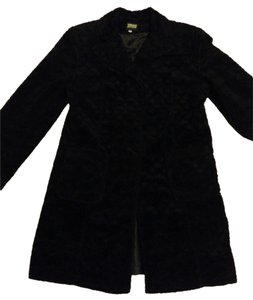 Versace Evening Scalloped Fuzzy Coat