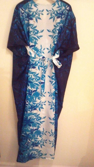 Blue and white Maxi Dress by Tropical Eve