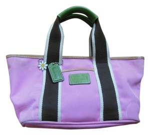 Coach Green Summer Spring Tote in pink