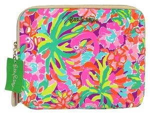 Lilly Pulitzer Multi-Color Flamingo Print Tablet Clutch (One Size)