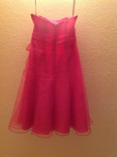 Alfred Angelo Fuschia Polyester 7095 Formal Bridesmaid/Mob Dress Size 2 (XS) Image 1