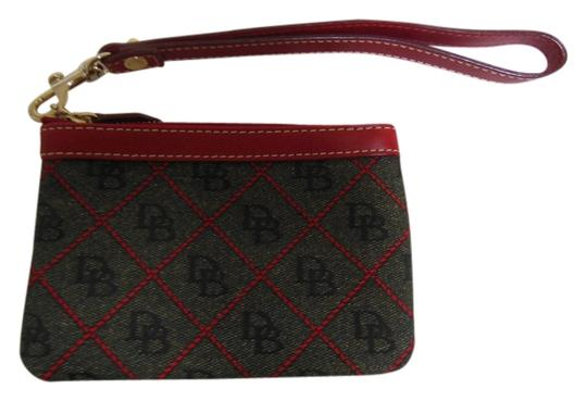 Preload https://item2.tradesy.com/images/dooney-and-bourke-wristlet-dark-gray-and-red-3729676-0-0.jpg?width=440&height=440