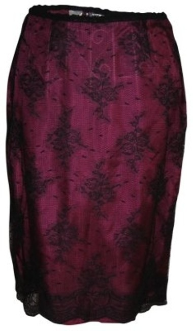 Preload https://img-static.tradesy.com/item/37297/dkny-black-and-pink-silk-lace-day-to-night-knee-length-skirt-size-4-s-27-0-0-650-650.jpg