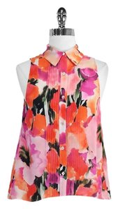 Haute Hippie Print Silk Sleeveless Top