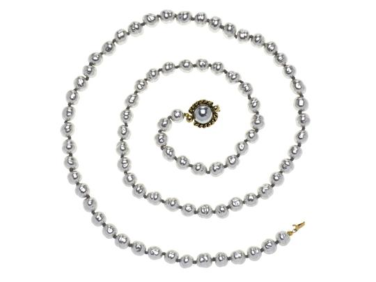 Chanel Chanel Vintage Light Blue Pearl Necklace