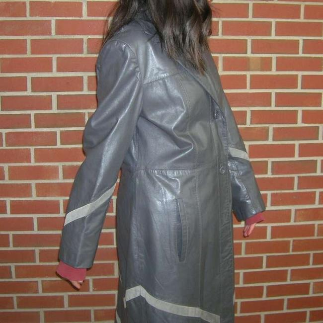 The Tannery Vintage Two Tone Leather Vintage Leather 70s Hippie Vintage Winter Vintage Leather Jacket Trench Coat
