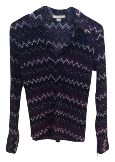 Preload https://item3.tradesy.com/images/dress-barn-multi-colored-purple-others-chevron-small-easy-care-easy-wear-blouse-size-6-s-373022-0-0.jpg?width=400&height=650