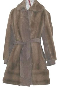 Lilli Ann Vintage Coat Taupe Leather Jacket