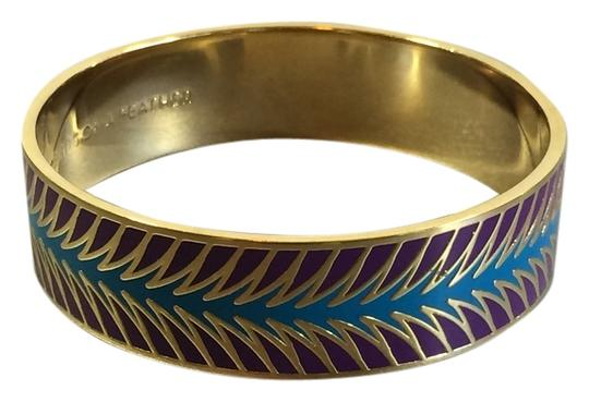 Preload https://item4.tradesy.com/images/kate-spade-kate-spade-birds-of-a-feather-bracelet-bangle-aqua-and-lavender-stylized-feathers-3730468-0-0.jpg?width=440&height=440