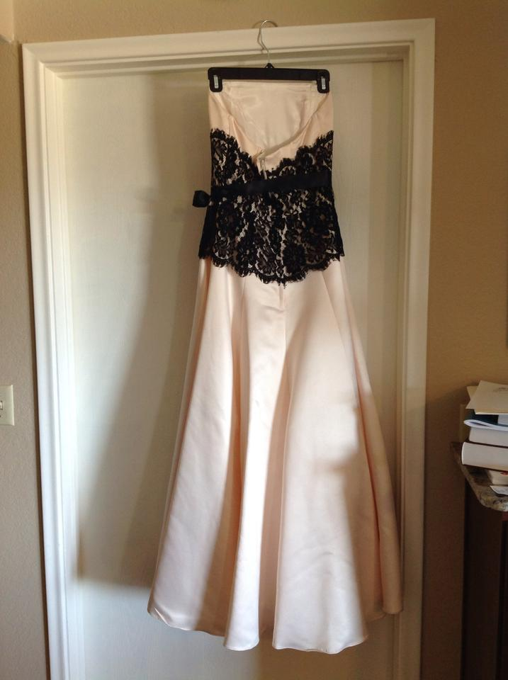 Jessica Mcclintock Creamblack Ball Gown Long Formal Dress Size 0