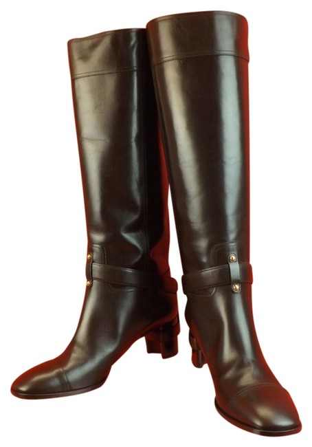 Saint Laurent Brown ChYc Chocolate Leather Thelma Tall Riding Harness Boots/Booties Size EU 41 (Approx. US 11) Regular (M, B) Saint Laurent Brown ChYc Chocolate Leather Thelma Tall Riding Harness Boots/Booties Size EU 41 (Approx. US 11) Regular (M, B) Image 1