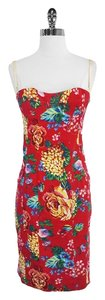 Dolce&Gabbana short dress Floral Print Cotton Bustier on Tradesy