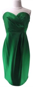 Alfred Angelo Shamrock Satin 7073 Casual Bridesmaid/Mob Dress Size 6 (S)