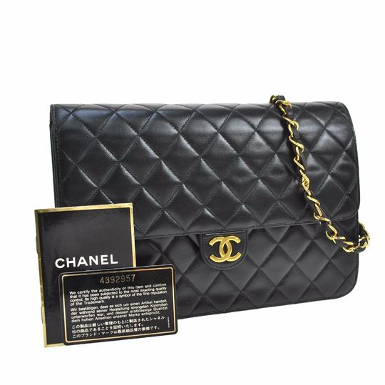 Preload https://item4.tradesy.com/images/chanel-quilted-two-black-lambskin-leather-shoulder-bag-3730933-0-7.jpg?width=440&height=440