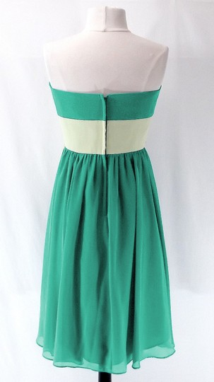 Alfred Angelo Jade / Pistachio Chiffon Style 7017s Casual Bridesmaid/Mob Dress Size 6 (S)