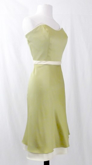 Alfred Angelo Kiwi / Butter Satin Style 7044 Casual Bridesmaid/Mob Dress Size 10 (M)
