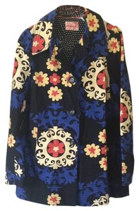 Anthropologie Black Floral Jacket