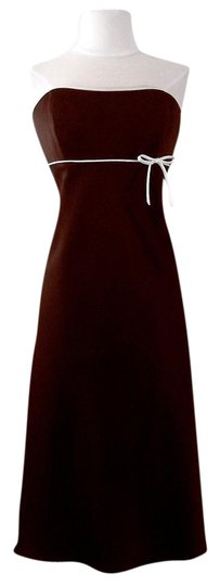 Preload https://item1.tradesy.com/images/alfred-angelo-chocolate-ivory-satin-style-6132-casual-bridesmaidmob-dress-size-6-s-3731755-0-2.jpg?width=440&height=440
