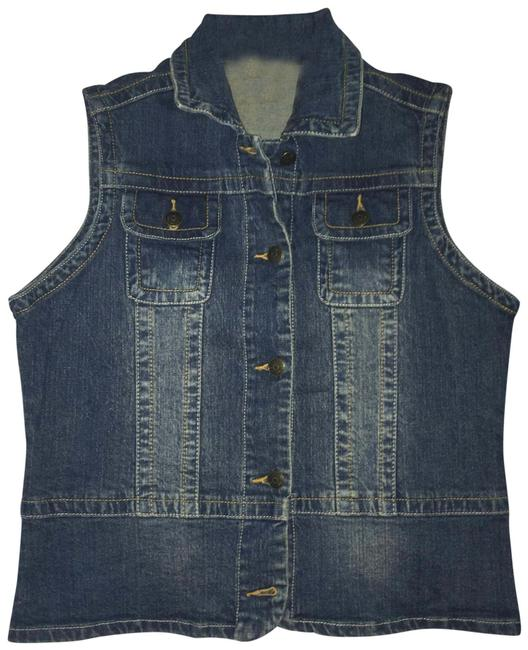 Item - Blue Denim/Jean Vest Size Petite 8 (M)