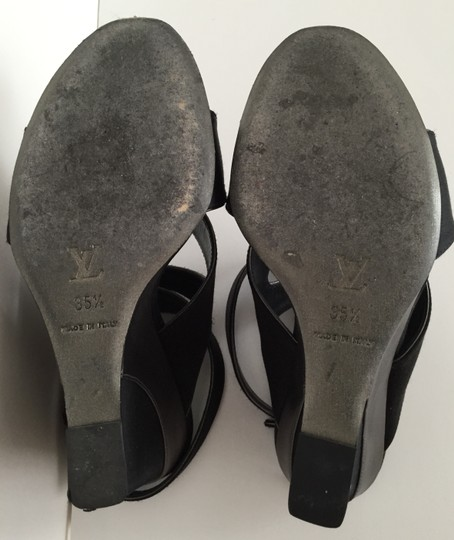 Louis Vuitton Black Wedges