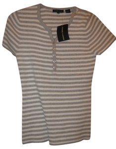 Jeanne Pierre Gray/White Stripes Top Gray/white