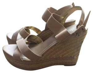 Charles David Summer Sandals Nude Wedges