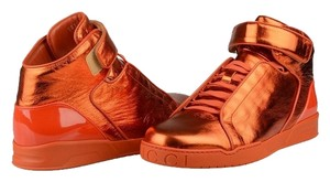 Gucci Men's Hi Top Sneakers Velcro Orange Athletic