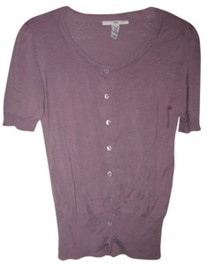 H&M Silk Blend Top Purple