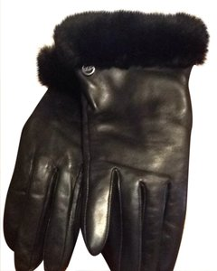 UGG Australia Ugg Black Genuine Leather Gloves