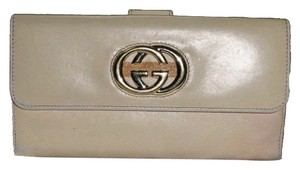 Gucci Long leather wallet coin purse Gucci logo