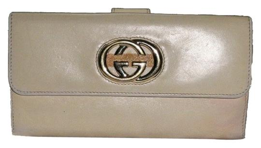 Gucci Long leather wallet coin purse Gucci logo (403)