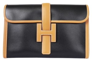 Hermès Evening Rare Brown, Black Clutch