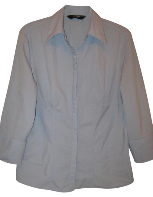 Express 3/4 Sleeve Button Down Shirt Light Blue