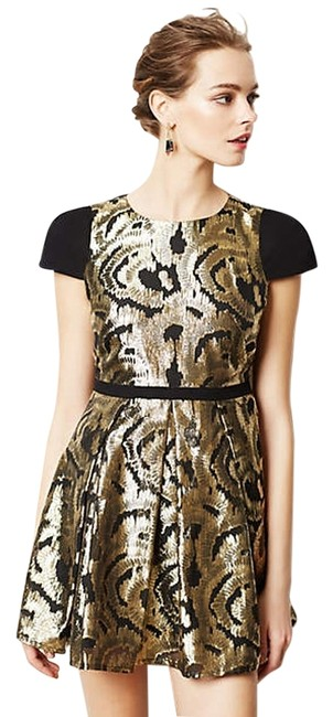 Preload https://item5.tradesy.com/images/hunter-bell-black-and-gold-anthropologie-above-knee-cocktail-dress-size-0-xs-3732349-0-0.jpg?width=400&height=650
