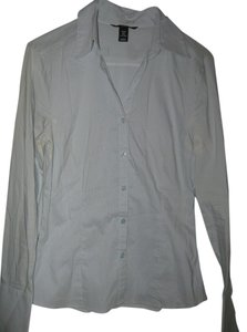 H&M Blue/White Striped Button Down Shirt Light blue