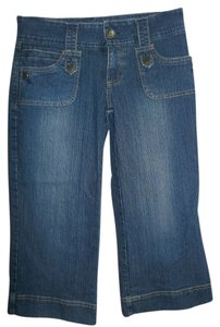 Hydraulic Summer Fashion Capri/Cropped Denim-Medium Wash