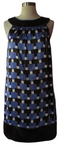 Maggy London short dress Blue/White on Tradesy