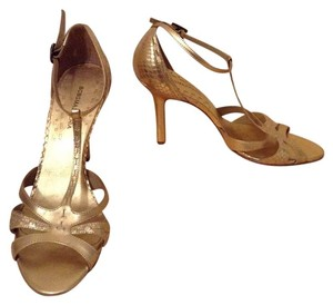 BCBGMAXAZRIA Leather Stunning Gold Formal