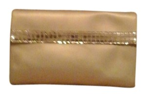 Dior Christian Dior Parfums Large Clutch Gold Sparkle Strip Bag